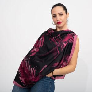 Μαύρο ροζ μαντήλι